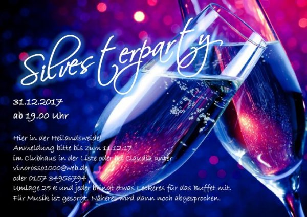 Silvesterparty 2017/2018